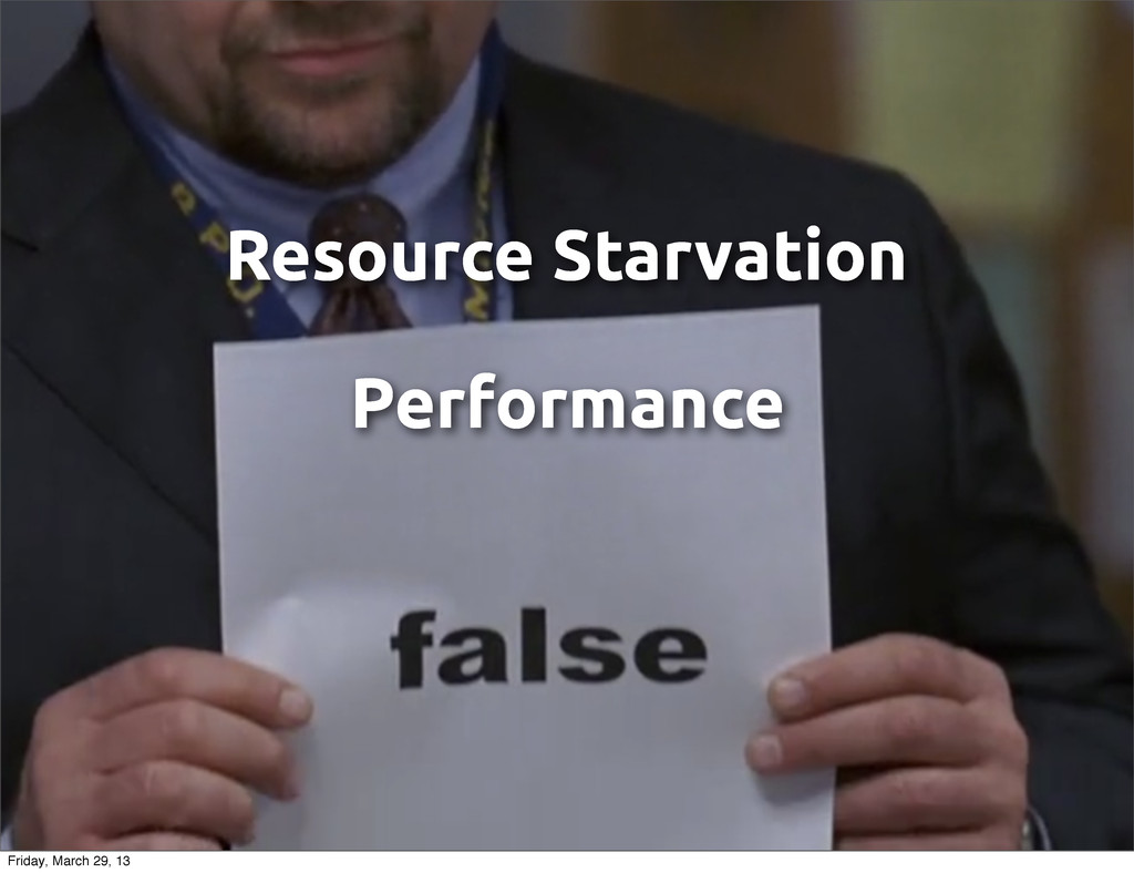 Resource Starvation Performance Friday, March 2...