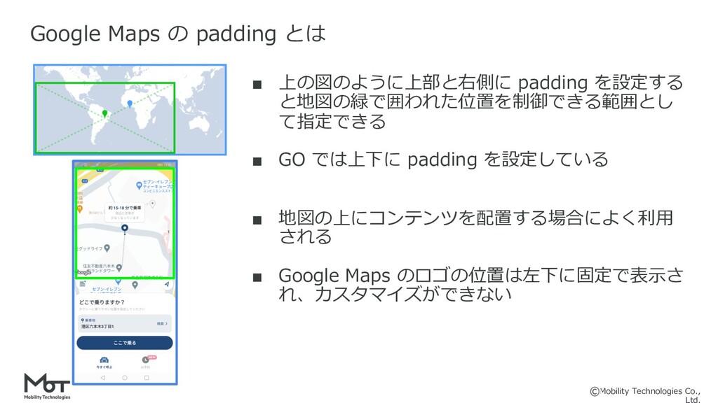 Mobility Technologies Co., ■ 上の図のように上部と右側に padd...