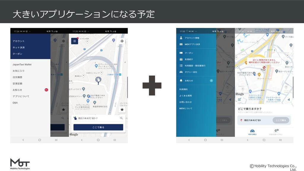 Mobility Technologies Co., ⼤きいアプリケーションになる予定