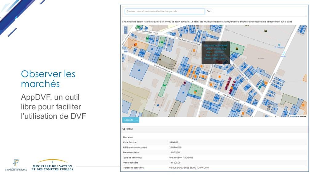 DINSIC Observer les marchés AppDVF, un outil li...