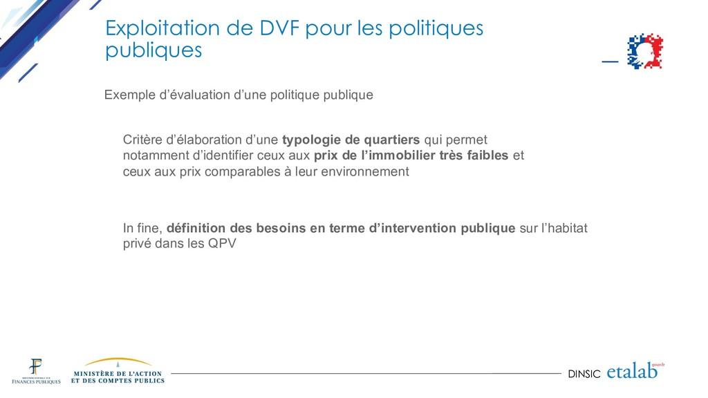 DINSIC Exploitation de DVF pour les politiques ...
