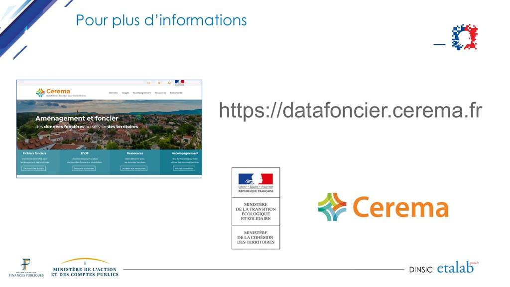 DINSIC Pour plus d'informations https://datafon...