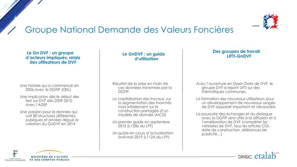 DINSIC Groupe National Demande des Valeurs Fonc...