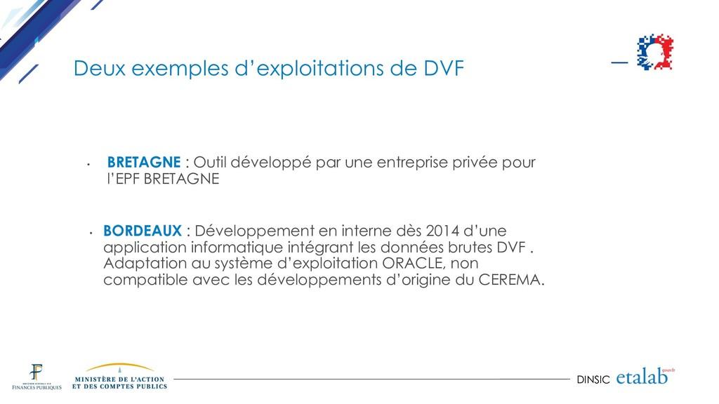 DINSIC Deux exemples d'exploitations de DVF • B...
