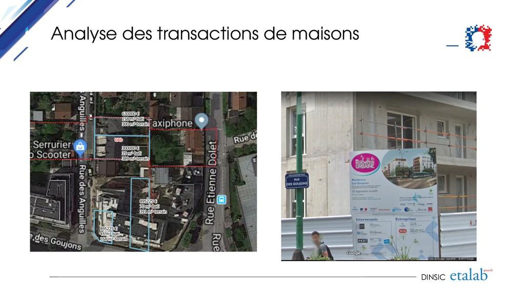 DINSIC Analyse des transactions de maisons