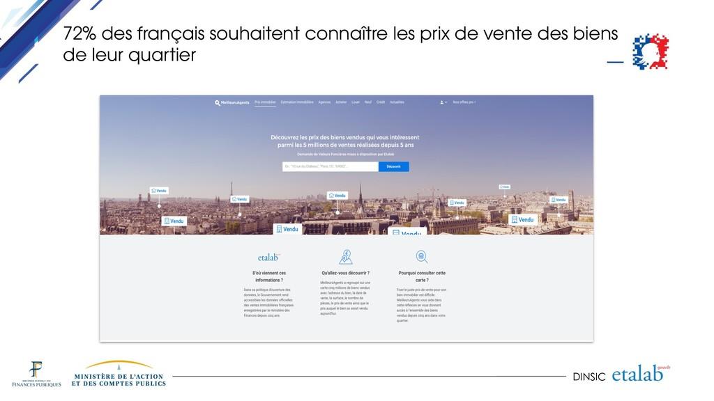 DINSIC 72% des français souhaitent connaître le...