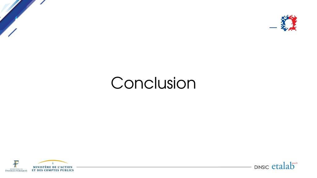 DINSIC Conclusion