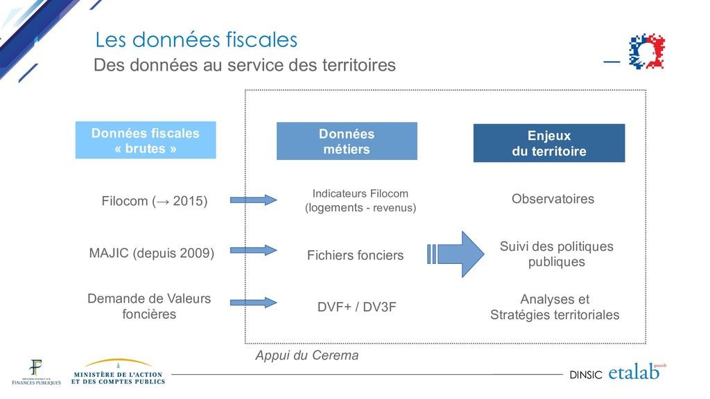 DINSIC Données fiscales « brutes » Filocom (→ 2...