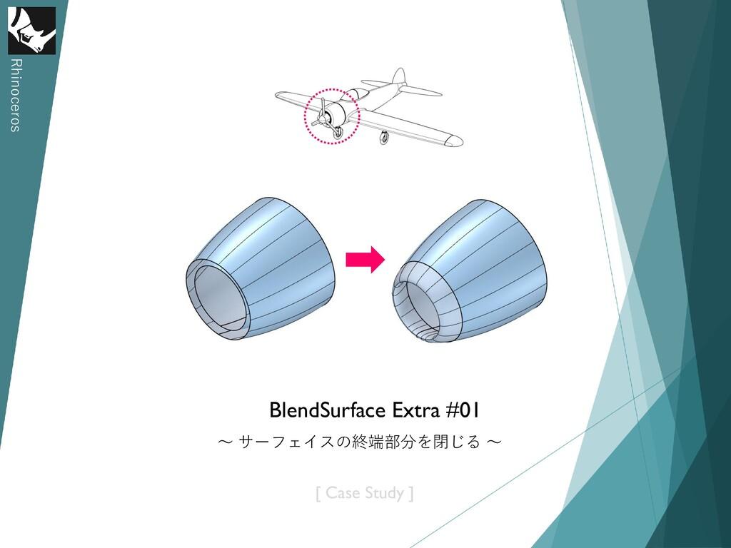Rhinoceros BlendSurface Extra #01 ~ サーフェイスの終端部分...