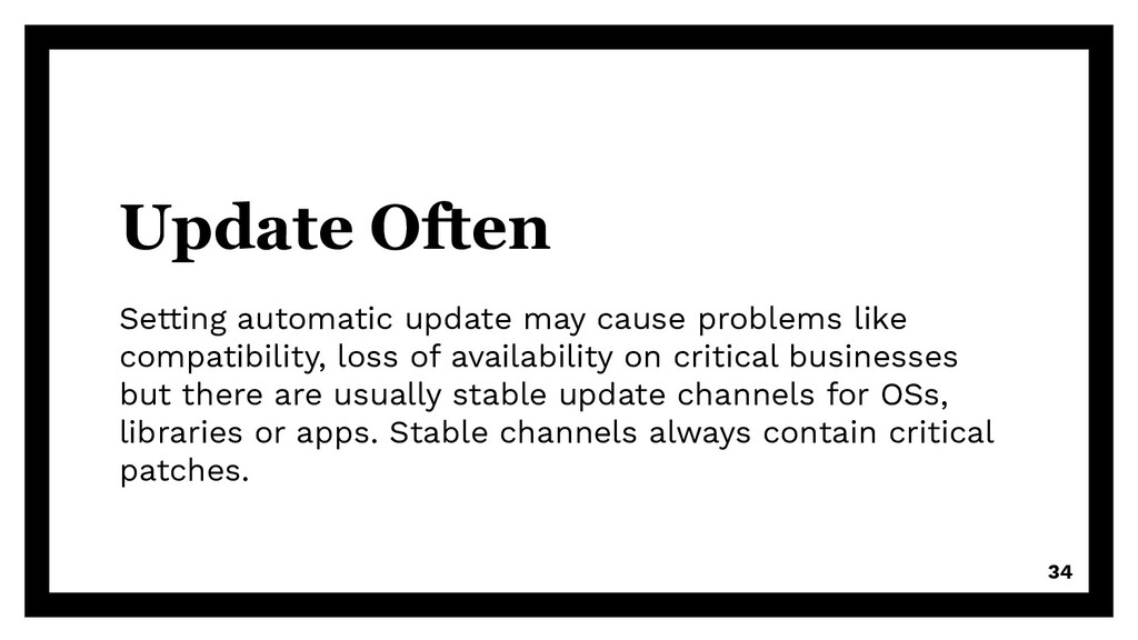 Update Often Setting automatic update may cause...