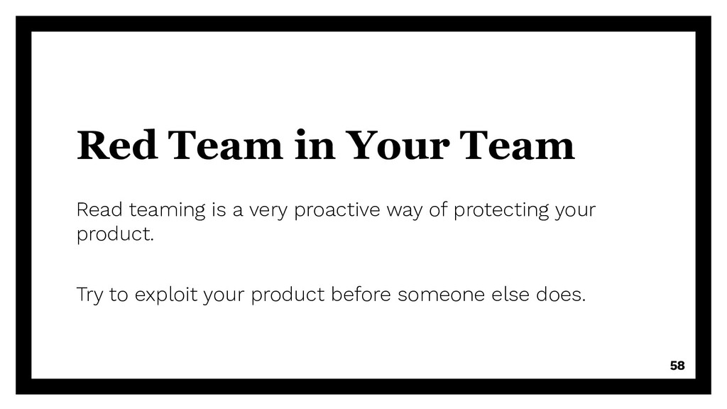 Red Team in Your Team Read teaming is a very pr...