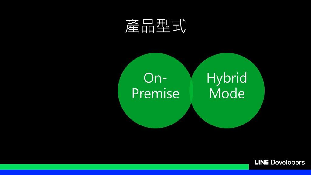 產品型式 On- Premise Hybrid Mode