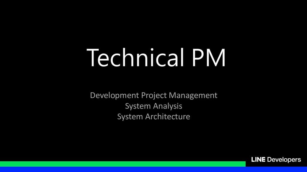 Technical PM Development Project Management Sys...