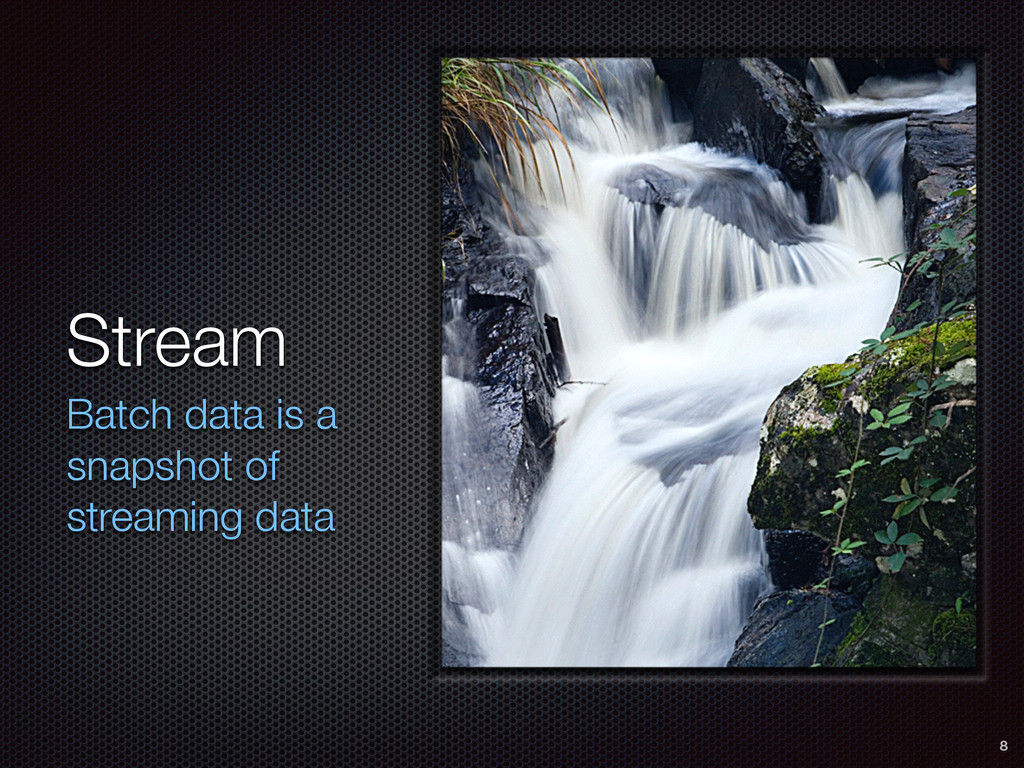 Stream Batch data is a snapshot of streaming da...