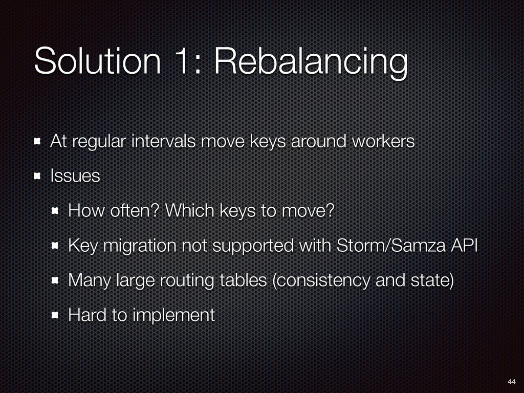 Solution 1: Rebalancing At regular intervals mo...