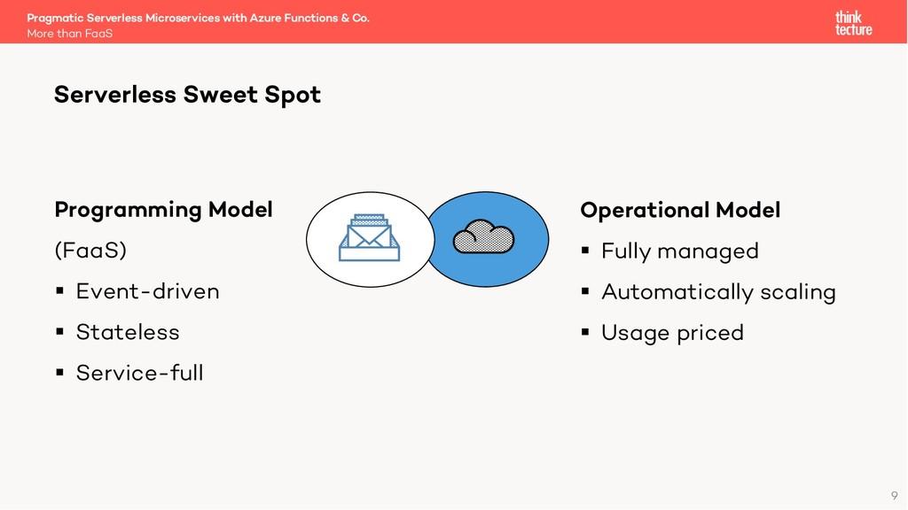 9 Serverless Sweet Spot Programming Model (FaaS...