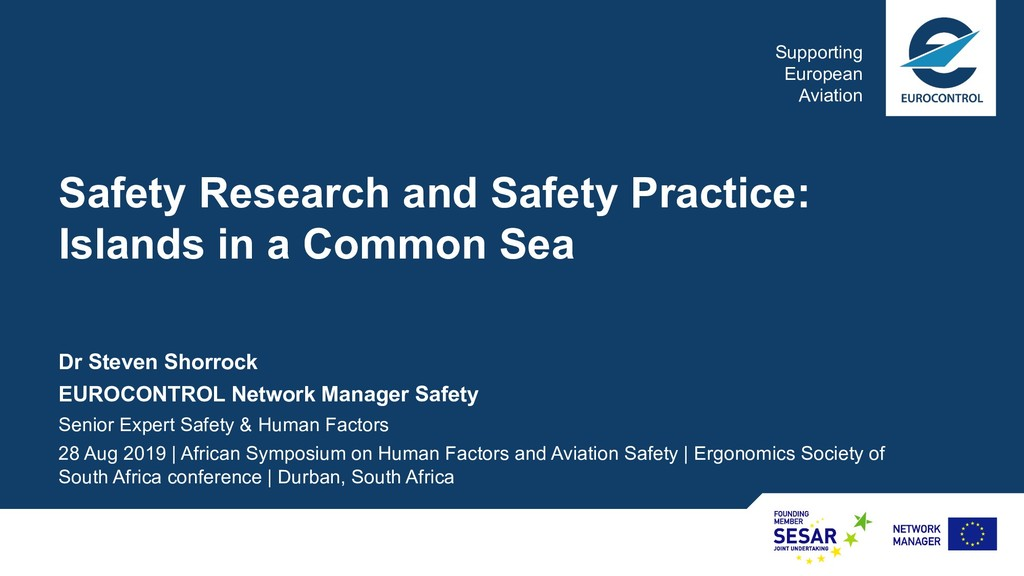 Supporting European Aviation Safety Research an...