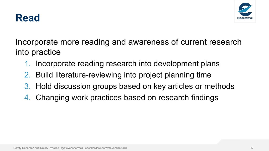 Read Incorporate more reading and awareness of ...