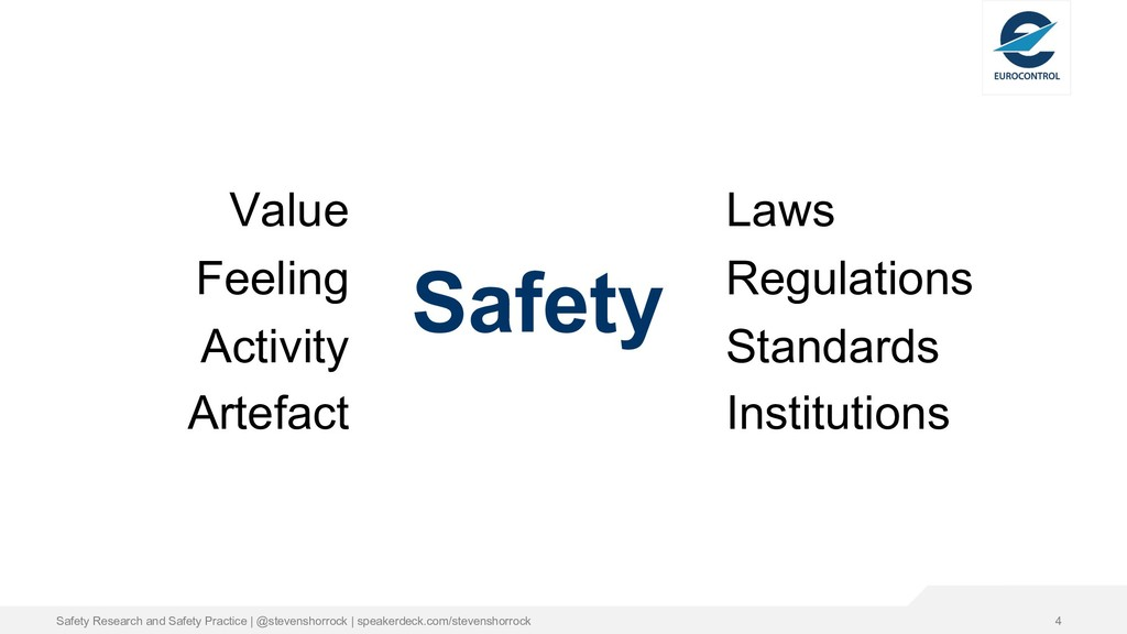 Safety Value Feeling Activity Artefact Laws Reg...