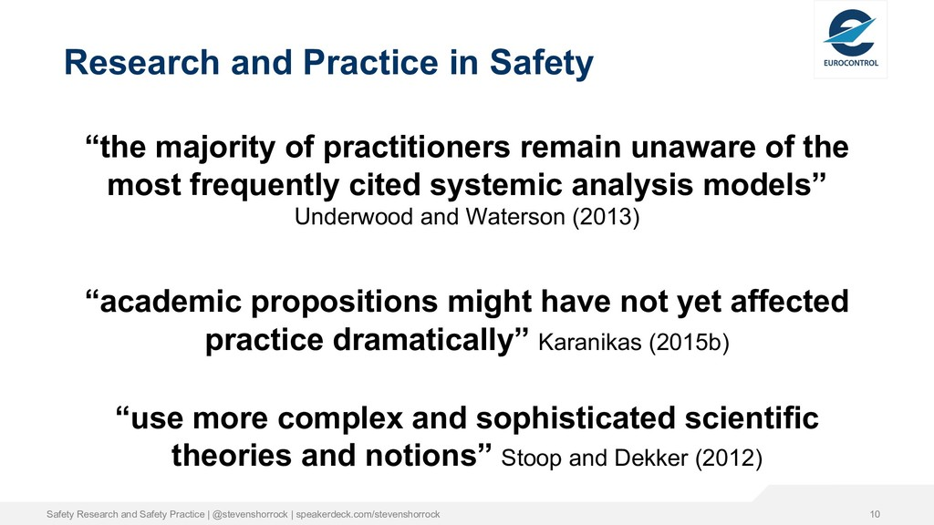 """Research and Practice in Safety """"the majority o..."""