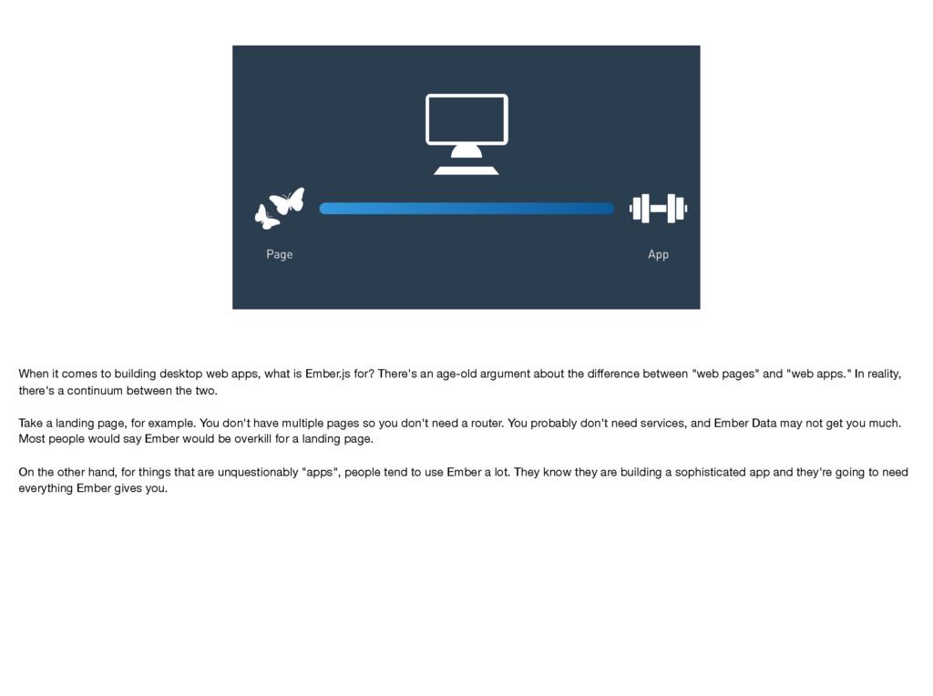 App Page When it comes to building desktop web ...