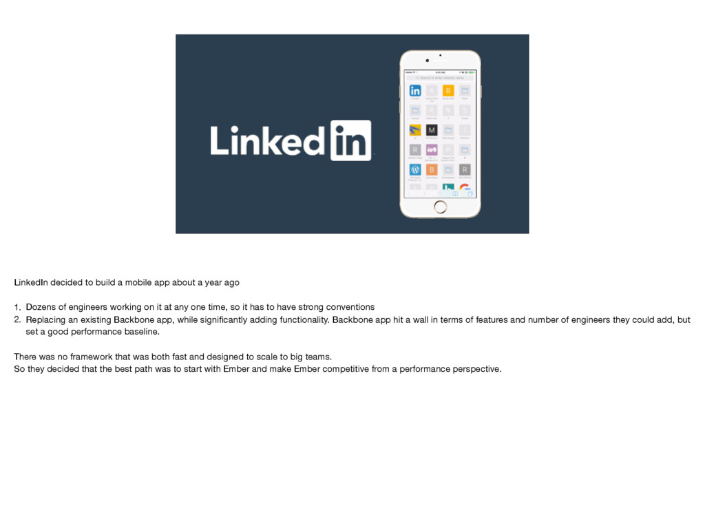 LinkedIn decided to build a mobile app about a ...