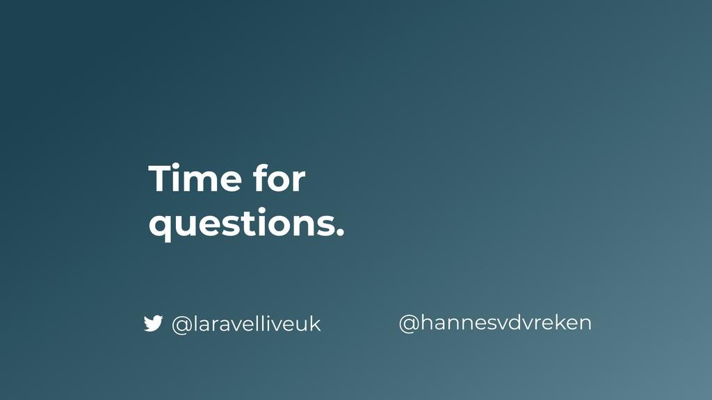 Time for questions. @hannesvdvreken @laravelliv...