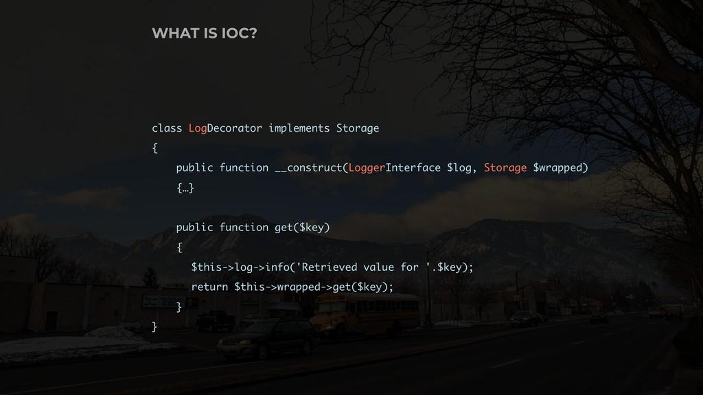 class LogDecorator implements Storage { public ...