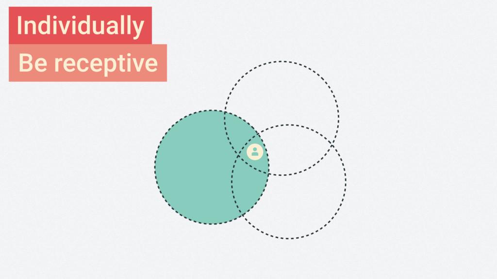 Be receptive Individually