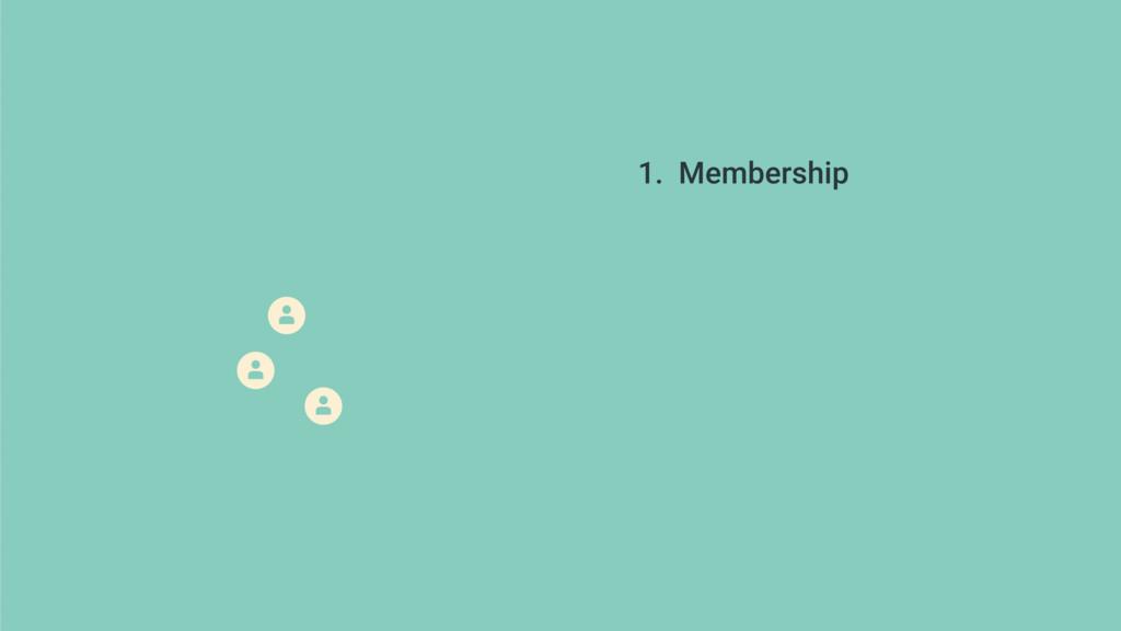 1. Membership