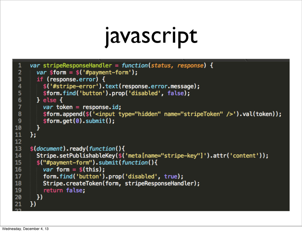 javascript Wednesday, December 4, 13