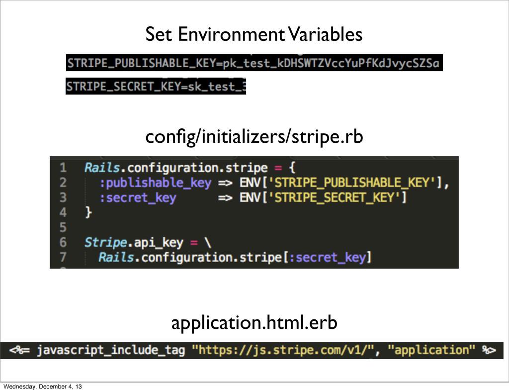 config/initializers/stripe.rb Set Environment Va...