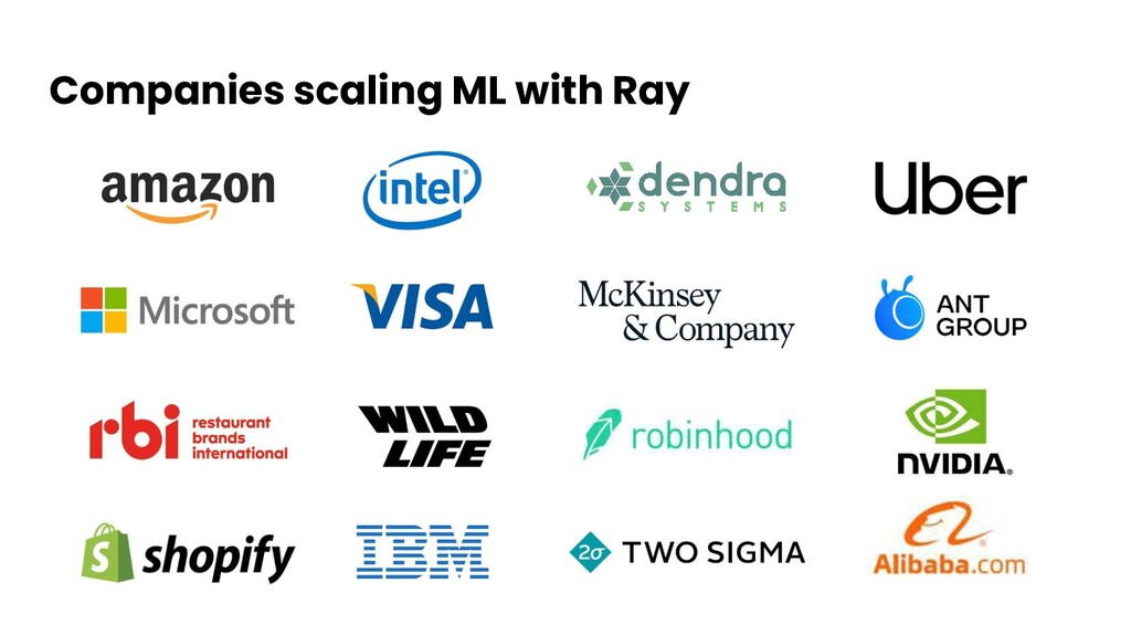Companies scaling ML with Ray