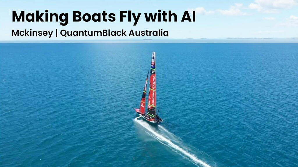 Making Boats Fly with AI Mckinsey   QuantumBlac...