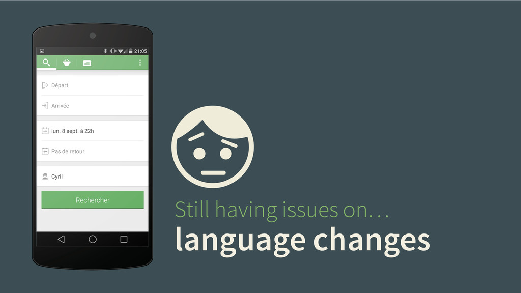 language changes Still having issues on…