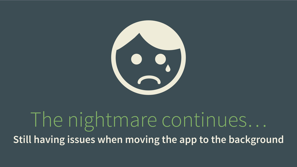 The nightmare continues… Still having issues wh...