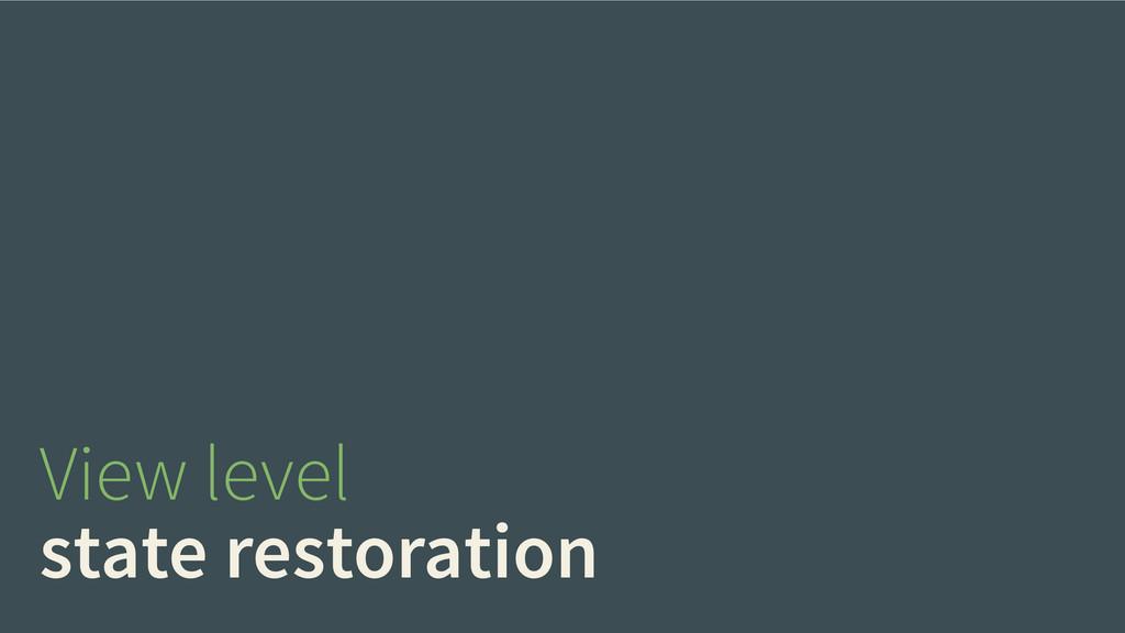 View level state restoration