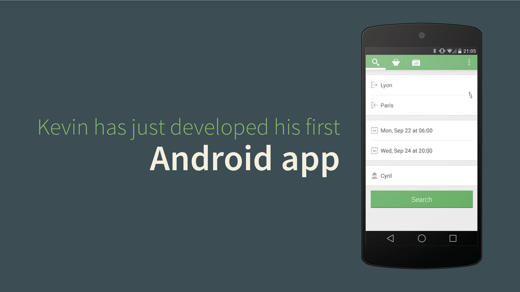 Kevin has just developed his first Android app