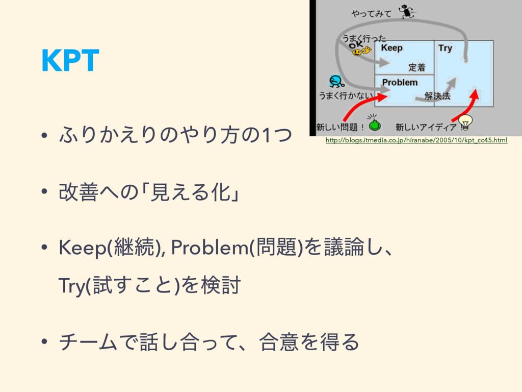 KPT • ;Γ͔͑ΓͷΓํͷ1ͭ • վળͷňݟ͑ΔԽ'n • Keep(ܧଓ), Pro...