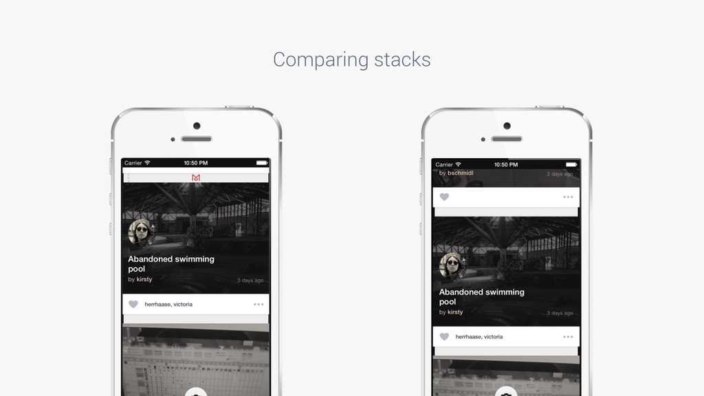 Comparing stacks IMAGE PLACEHOLDER IMAGE PLACEH...