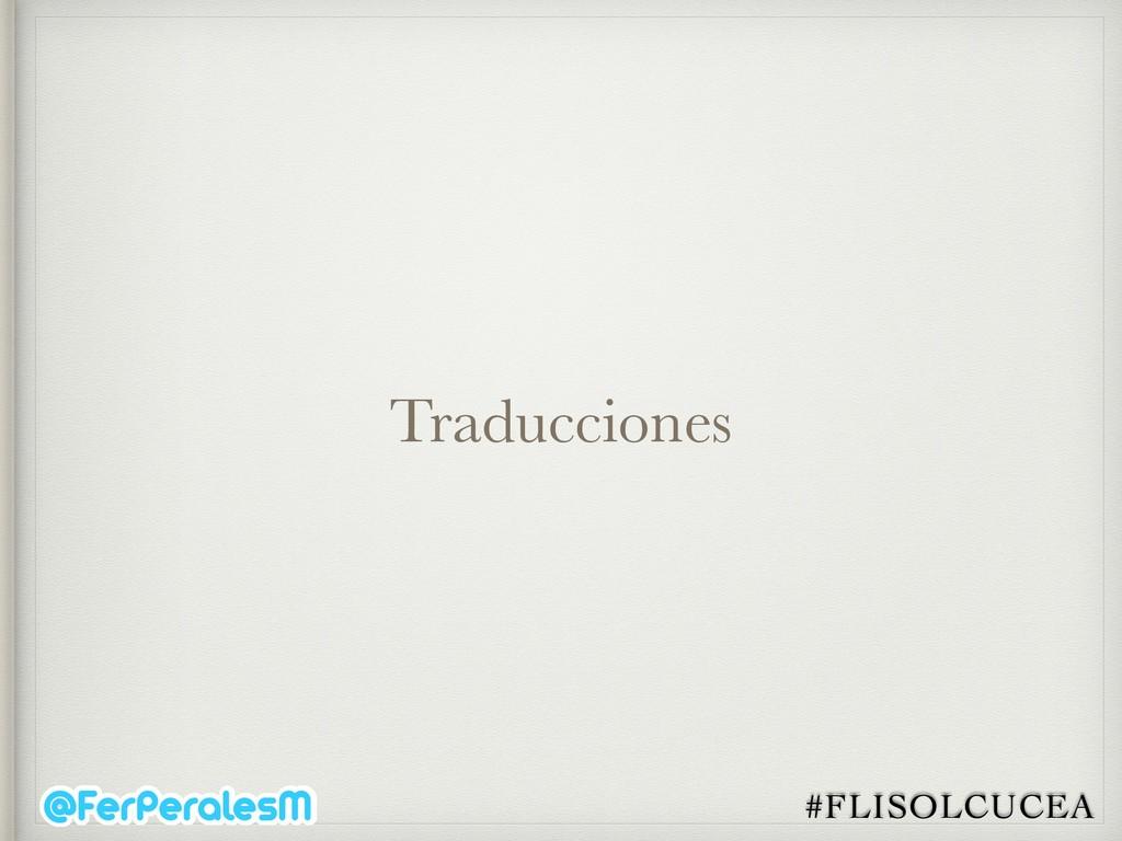 #FLISOLCUCEA Traducciones
