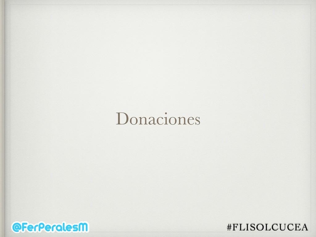 #FLISOLCUCEA Donaciones
