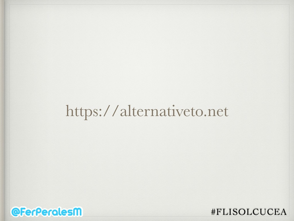 #FLISOLCUCEA https://alternativeto.net