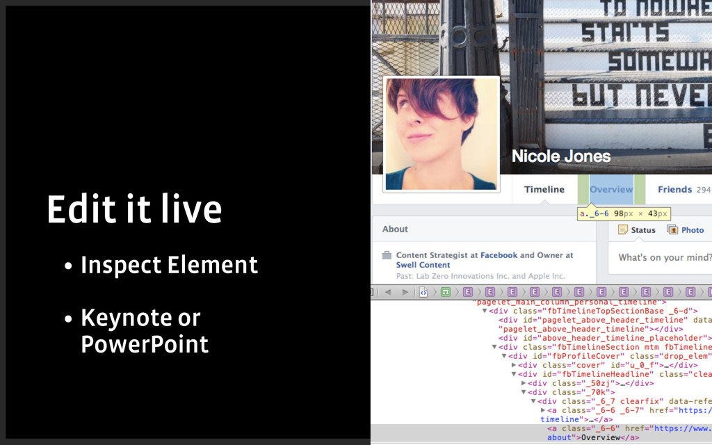 Edit it live • Inspect Element