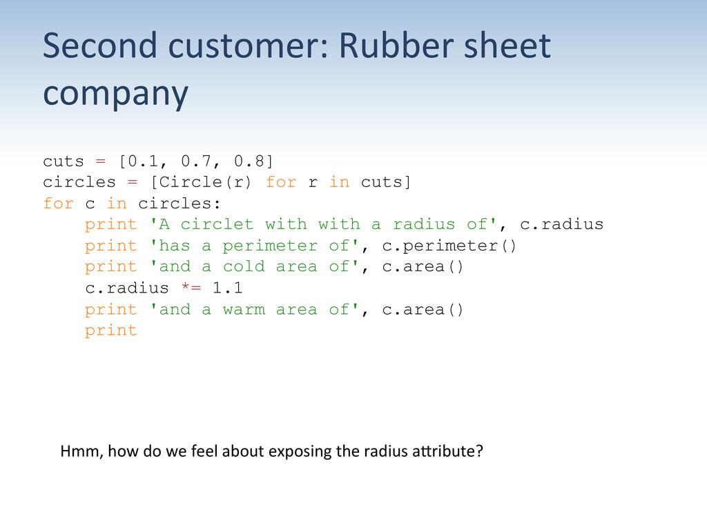 Second customer: Rubber sheet  comp...