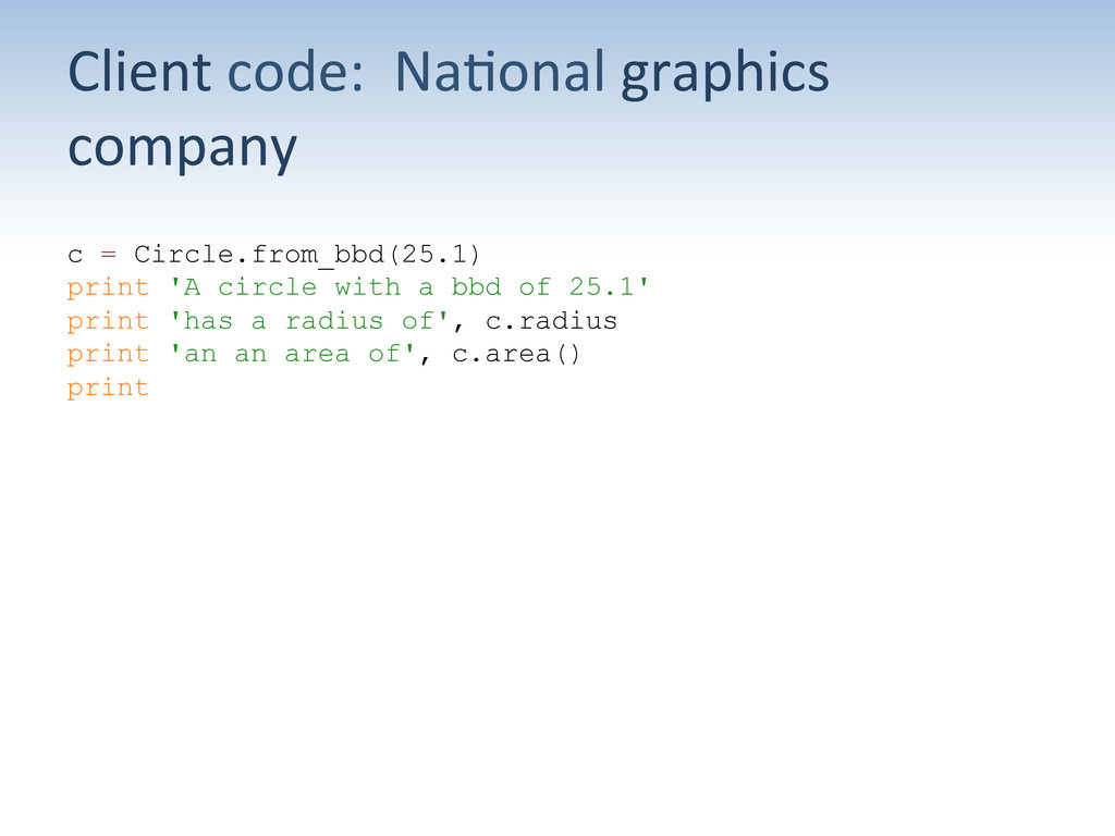 Client code:  Na;onal graphics  ...