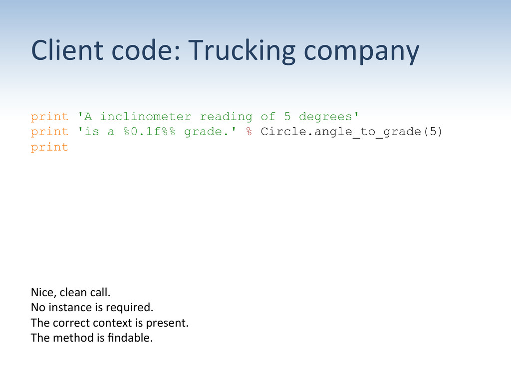 Client code: Trucking company  prin...