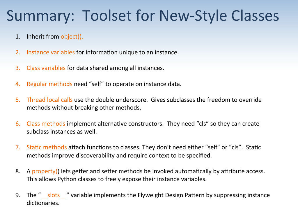 Summary:  Toolset for New-‐Style...