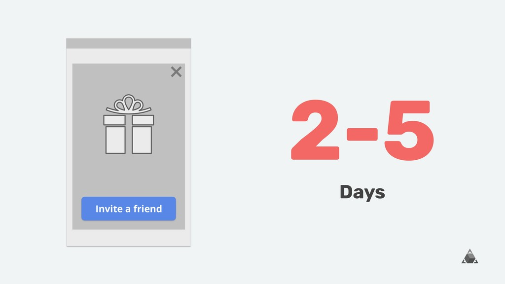 Invite a friend 2-5 Days