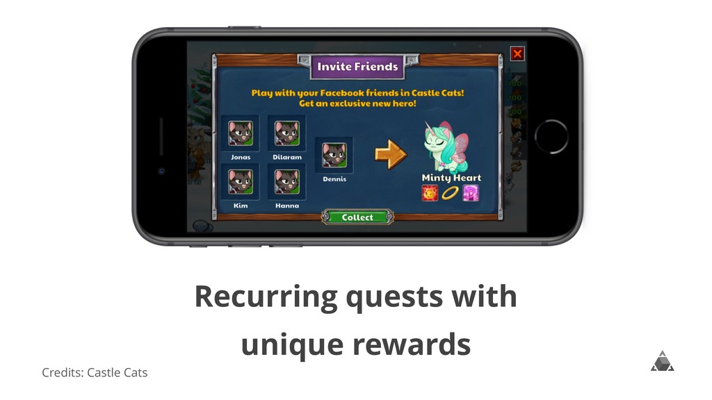 Recurring quests with unique rewards Credits: C...